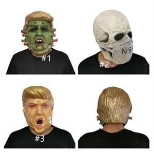 Président américain Trump M.Donald Latex Masque facial Masques Concepteurs costumée Halloween Masque Overhead crâne Masque Effrayant Designer D81706