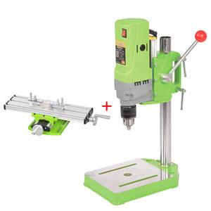 Mini Banc Perceuse 710W Banc Perceuse à vitesse variable de forage Chuck 1-13mm pour le bricolage en bois électrique en métal + Vise Table