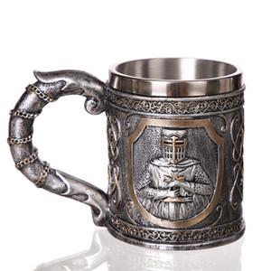 Çapraz Bira Stein Tankard Coffee Of Zırh Knight Ortaçağ Templar Haçlı Şövalye Mug Suit