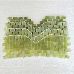 Jade naturel Masque pour les yeux de refroidissement Jade masque de sommeil Eye Massager Thérapie Jade Pierre Anti Aging Ombre Couverture Relaxation cadeau