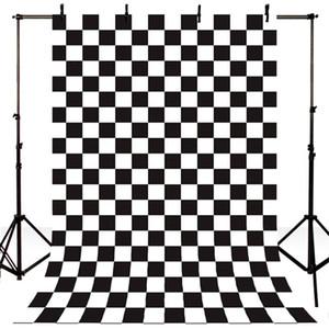 Newborn fondali fotografia Vintage scacchiera Foto Sfondo per Photo Studio Bianco e Nero Piazza Lattice fondale