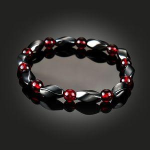 Oktrendy Unisex Magnetic Bracelet Hematita Stone Therapy Health Care Beads Bangle Magnet Homens Mulheres Magro Jóias