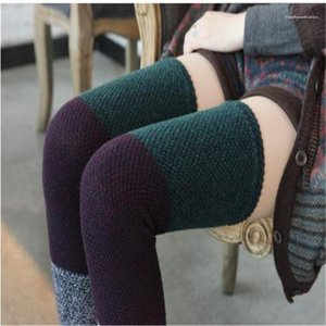 Thicken Warmth Long Socks Floral Solid Color Striped Leg Warmers Womens Underwear 22 Colors Knee Length Folk Custom Womens Designer Socks