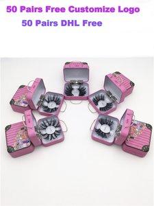 2020 25 nouveaux styles 100% Vison Cils 25 mm Wispy Fluffy faux cils 5D maquillage Volumineux Croisillon réutilisables Faux Cils Extensions