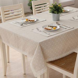 boda vajilla de mesa de encaje de algodón tela de paño de lino mantel modelo de la Navidad del copo de nieve de banquetes mantel textil lavable