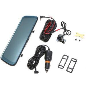 """قمة جديدة 10 """"شاشة IPS سيارة دفر مرآة داش كاميرا داش كاميرا عدسة كاميرا مزدوجة سيارة FULL HD محرك مسجل تيار مرآة الرؤية الخلفية"""