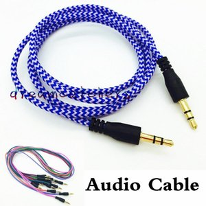 Cgjxs3 .5mm Wavy Audio Cable 1m 3ft Braided Weave Extension Male Jake Stereo Aux Auxiliary Cord For Iphone Samsung Htc Mobile Phone Mp4 Spea