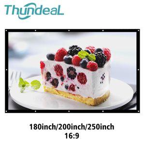 ThundeaL schermo di proiezione 180 200 250 300 pollici 16: 9 Tela film pieghevole HD grande schermo per XGIMI DLP a LED Projector Curtain