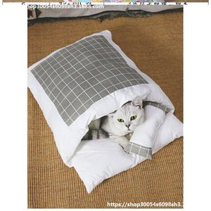 Cat Bed Cat Blanket Sleeping Bag Heating Nest Japanese Style and Sleeping Bag Pet Small Dogs Blanket Winter Protection.