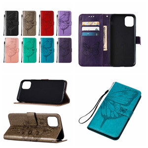 Butterfly Leather Wallet Case For Samsung Note 20 Ultra S20 Plus A51 A71 5G A01 A11 A21S A31 ID Card Slot Flip Cover Fashion Holder Purse