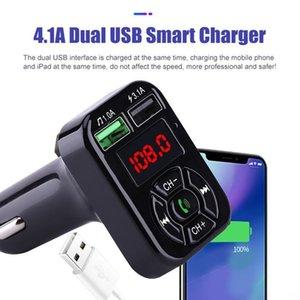 Dual USB Автомобильное зарядное устройство Adatper 3 .1a Цифровой дисплей напряжения Bluetooth Fm передатчик Поддержка U диска Tf Card Lossless Music Player для Iphone