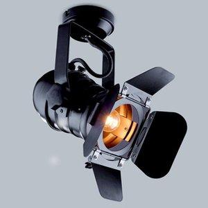 110 -240v Vintage Эдисон лампы Театр Точечные потолочные светильники Промышленные ретро Ресторан Stage лампы Spot Black Wall шторки Потолочные светильники