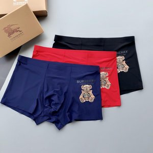 2020 Mens Underpants Sexy Classic Mens Boxer Casual Shorts Underwear Breathable Cotton Underwears