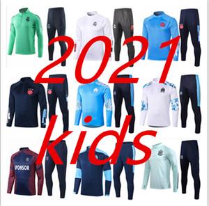 20 21 باريس اياكس كرة القدم للأطفال رياضية ريال مدريد 2020 2021 mbappe مرسيليا Survêtement دي لكرة القدم دعوى تدريب الركض chandal فوتبول