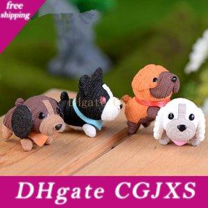4pcs / Lot Kawaii mini perro de PVC Figuras Bonsai Micro paisaje Dollhouse Adornos Mini Craft miniaturas cumpleaños regalo de boda
