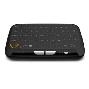 2,4 GHz Teclado inalámbrico USB H18 Wireless Touchpad teclado virtual ratones ratón del aire de goma con la batería Li para Android PC TV