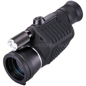 Cgjxsprofessional monoculare Zoom Vision 8x40 messa a fuoco del telescopio ad alta -Potenza visione notturna di HD Monocle caccia di Spyglass con la torcia elettrica T191022