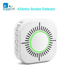 eWeLink détecteur de fumée sans fil Capteur 433MHz alarme Capteur de sécurité incendie Smart Protection travail à domicile avec Sonoff RF Pont