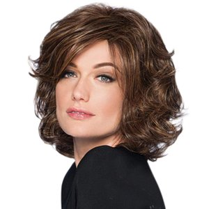 Short Bob Hair Wig 11'' Short Curly Hair Heat Resistant Fiber Synthetic Natural As Real Wig for Black White Women Daily Costume Cosplay Wig