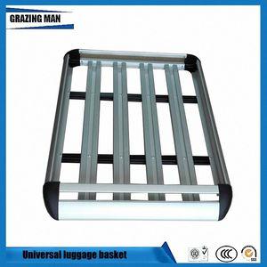 Marco de la azotea del coche de aluminio para techos de rack marco de la cesta portaobjetos Doble capa de viaje 127 * 90 cm BNM #