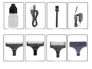 Hombres eléctrica Lcd Kemei máquina del cortador de pelo Display Kemei 5027 profesional recargable de las podadoras de afeitar pelo de la barba Trimmer Barbero okvNb