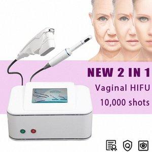 2en1 dentro de la vagina de apriete de elevación HIFU cara de la máquina arrugas eliminación de Lucha contra el envejecimiento HIFU Mujer Máquina Hombres uso moderno salón Muebles Salon C # QDox