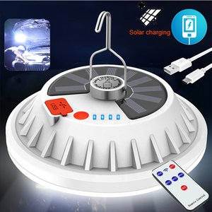 Rechargeable LED Bulb Lamp Remote Control Solar Charge Lantern Portable Emergency Night Market Light Outdoor Camping lights Home