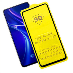 10PCS 9D الغراء الكامل حامي الشاشة الزجاج لسامسونج غالاكسي A90 5G / A10 / A10S مع حزمة الشحن المجاني