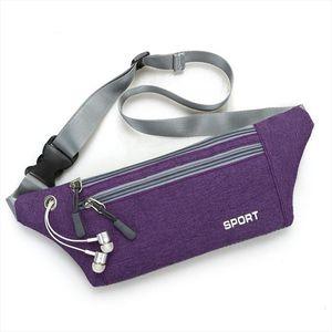 Women Men Waist Bag Fanny Pack Multi function Pockets Outdoor Sport Leisure Waist Packs Versatile Shoulder Messenger Bags 814