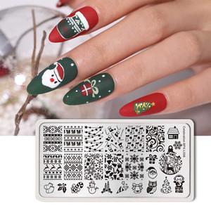 BORN BONITO Christmas Theme unhas estampagem de chapas de aço inoxidável Template Stamp Placa Nail Art Árvore do floco de neve Imagem