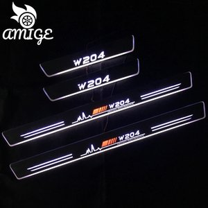 LED 자동차 페달 빛 창턱 통로 환영 닳게 빛 W204 C180 C200 2,007에서 2,013 사이 문으로 이동 페달 조명