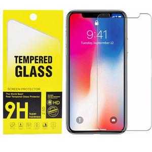 Protector de pantalla para el iPhone 11 XS Max XR vidrio templado para el iPhone 7 8 Plus de Samsung A20 A10 0,3 mm Film Protector Pro Max con el paquete al por menor