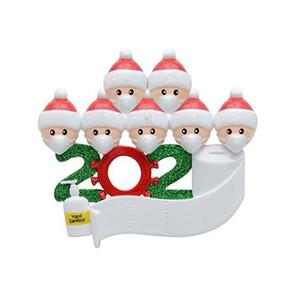 DHL 2020 Карантин Рождество рождения партии украшение подарки продукт персонализированное семейство 2/3/4/5/6/7 Украшение Pandemic социального дистанцирования