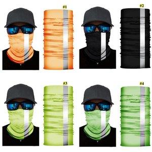 Светоотражающих нашивки Твердой Бандана шея оголовье Велоспорт Рыбалка шарф Бандан мужчины женщины Головные уборы Многофункциональной Бесшовная маска DHE626
