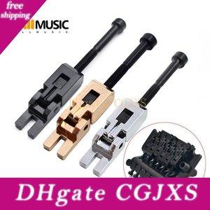6 Pcs Chrome guitarra elétrica bloqueio duplo Systyem Locked Cordas selas para Floyd Rose Tremolo ponte Mu0608