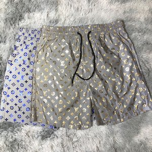 Mens Designers estate dei pantaloni di bicchierini della spiaggia di modo bicchierini 4 colori stampata con coulisse Shorts 2019 Relaxed pantaloni della tuta di lusso Homme
