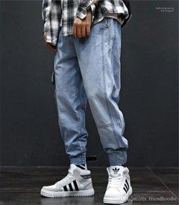 Jeans Mode lange Herren Cargohose mit Taschen Hiphop los Light Blue Mens