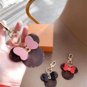 Симпатичный шаблон мужского брелока кулон 3 цвета Личность Дизайнер Мужчины Женщина Кольцо для ключей подарок на день рождения для Lover Модных аксессуаров Key