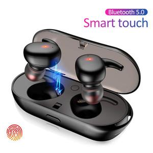 Y30 TWS Bluetooth 5.0 écouteurs sans fil Casques d'écoute Waterproof Mini écouteurs intra-auriculaires Casque Hi-fi design berceau