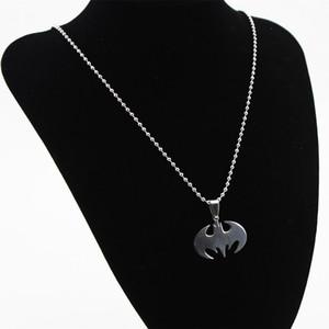 Stainless Steel Necklace Men pendant Drop Charm Women Men Jewelry Fashion Bat Pendant Men Necklaces