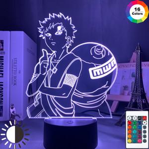 3D 램프 NARUTO 가아라 그림 어린이의 밤 빛 LED 애니메이션 일본 만화 배터리 램프 룸 장식 아기 수면 야간 조명 선물 Y200811