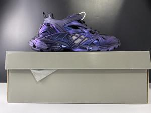 Caméléon piste 4.0 2.0 Combinaison violet Paris Triple S Chaussures de sport de luxe Designers Sport Respirant Hommes Chaussures Femme Casual Top qualité OG
