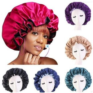 New Silk Night Cap Hat Double side wear Women Head Cover Sleep Cap Satin Bonnet for Beautiful Hair - Wake Up Perfect Daily Factory Sale . z1