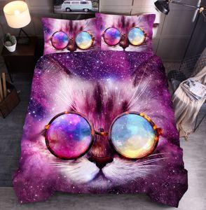 Autunno Copripiumino Set Animal Cat Cane doppio lupo 3D Printing Quilt Cover digitale Bed Duvet Quilt Cover Set Bedding Set 2020