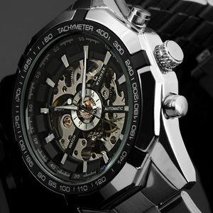 Наручные часы Fashio Top Brand Winner Mens Часы Роскошный Скелет Часы Человек Классические Спортивные Часы Подарок Автоматический Механический Relogio Masculino