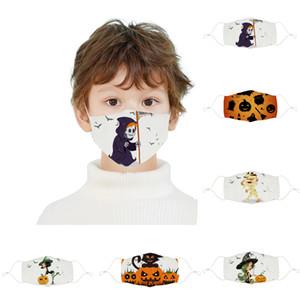 Yortusu Çocuklar Yüz toz geçirmez Palyaço Maskesi Yıkanabilir Ayarlanabilir Anti Toz Cadılar Bayramı Kabak Baskı Tasarımcı Maskeler Maske