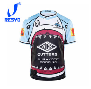 RESYO FOR 2020 Cronulla-Sutherland Sharks NINES Jersey Rugby Sport Shirt S-5XL