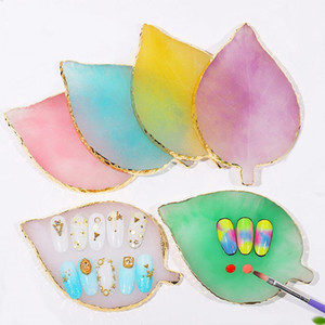 Природные смолы ногтей Цвет краски Palette Holder рисования Nail Art Цветовая палитра для Nail Color Mixing Display