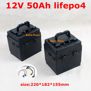 12V 50AH LiFePo4 LFP Lithium iron Phosphate Battery Pack with BMS for Car Board Long Life Deep Cycles Solar Energy+ 5A charger