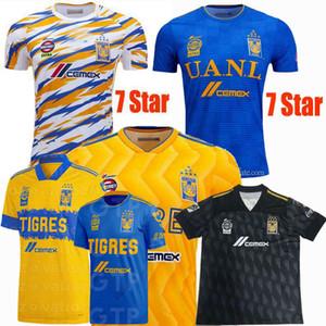 Liga MX 2019 2020 2021 Tigres UANL Futbol Formalar 7 yıldız C.SALCEDO VARGAS GIGNAC ev uzakta 3 19 20 futbol erkek ve kadın gömlek